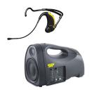 Group.X EVO Lite, bärbar batteridriven musikanläggning med trådlöst EVO headset