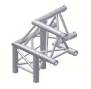 Alur Solutions 3-vägs hörn 90º vänster spets uppåt - KN-22 - 3-punktstross - utmärkt tross system för mässmonter applikationer och butiks installationer