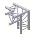 Alur Solutions 3-vägs hörn 90º höger spets neråt - KN-22 - 3-punktstross - utmärkt tross system för mässmonter applikationer och butiks installationer