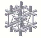 Alur Solutions 6-vägs Kors - KN-22 - 4-punktstross - utmärkt tross system för mässmonter applikationer och butiks installationer
