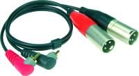 Klotz AT-CAM | Kabel med vinklad RCA-XLR Hane