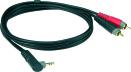 Klotz AY7A-0100 | 1,0m Y-Splitt vinklad Minitele - RCA
