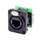 Neutrik NE8FDP-B | RJ45 chassi kontakt