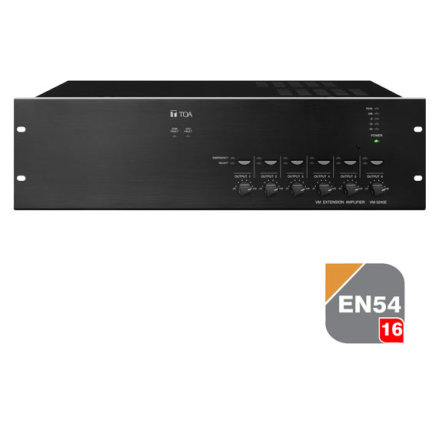 TOA VM-3360E   EN 54-16 certifierad Multifunktionell förstärkare - talat utrymningslarm
