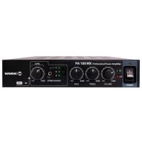 Work PA-100MX | Kompakt mixerförstärkare för installation 2x50W 100V