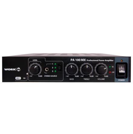 Work PA-100MX   Kompakt mixerförstärkare för installation 2x50W 100V