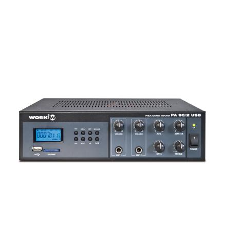 Work PA-90/2USB   Kompakt mixerförstärkare 30W med mediaspelare