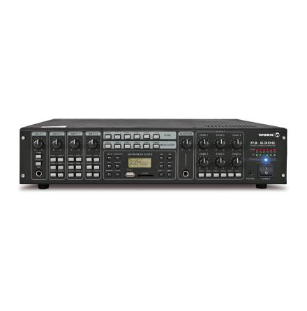 Work PA-6303   Mixerförstärkare 6x 30W med analog matris