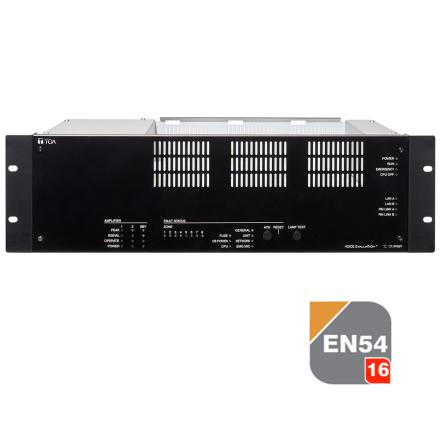 TOA VX-3008 | EN 54-16 certifierad Central / förstärkare - talat utrymningslarm